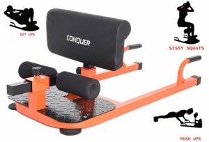 Conquer 3-in-1 Deep Sissy Squat Machine